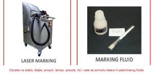 Oznacavanje na staklo - laser i fluid 600x289